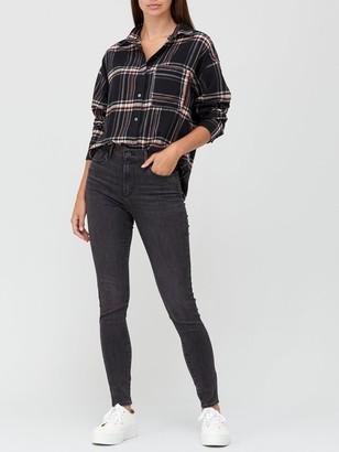 Levi's 720 High Rise Super Skinny Jeans - Black