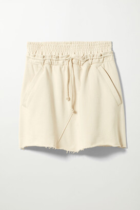 Weekday Ada Skirt Plant-Based Dye - White