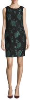 Armani Collezioni Sleeveless Jacquard Shift Dress