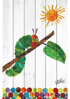Marmont Hill Eric Carle Crawling Caterpillar 2 Art Print on White Pine Wood