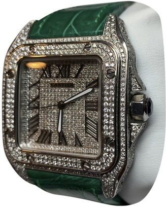 Cartier Santos 100 XL Green Steel Watches