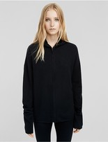 Calvin Klein Collection Boiled Cashmere Zipped Hoodie
