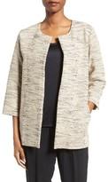 Eileen Fisher Women's Cotton Blend Round Neck Jacket