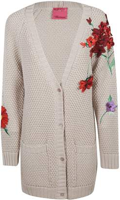 Blumarine Flower Embroidered Cardigan