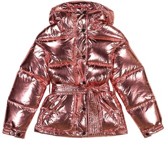 Perfect Moment Kids Metallic down ski jacket