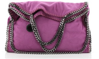 Stella McCartney Falabella Tote Embossed Faux Suede Small