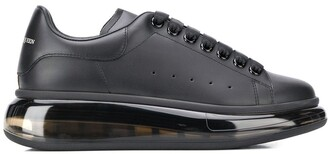Alexander McQueen Transparent Sole Lace-Up Sneakers