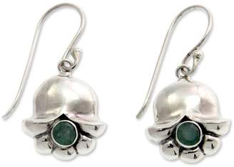 Novica Artisan Crafted Sterling 0.50 cttw Emerald Earrings