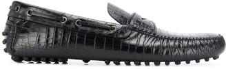 Car Shoe croc-effect driving shoes