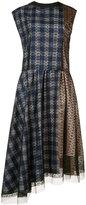 Les Animaux - irregular-hem party dress - women - Cotton/Nylon/Polyester - S