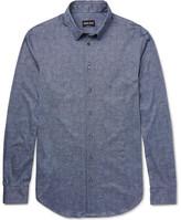 Giorgio Armani Slim-fit Printed Cotton Shirt