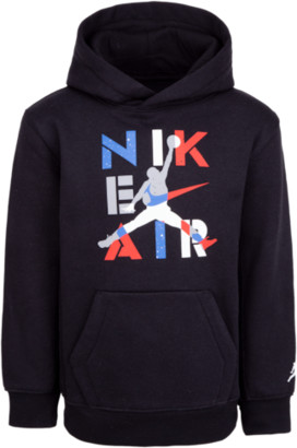 Jordan Legacy Retro 4 Hoodie Sweatshirt - Black / Military Blue Red