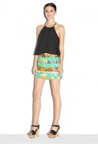Milly Couture Neon Jacquard Mini Skirt