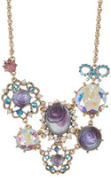 Betsey Johnson Ornate Frontal Necklace
