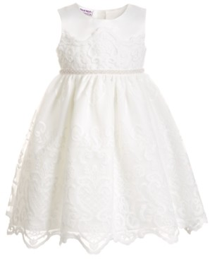 Blueberi Boulevard Toddler Girls Embroidered Dress