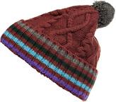 Paul Smith Brown Multicolor Striped Cap