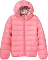Joe Fresh Kid Girls' Hooded Puffer Jacket, Pink (Size XL)
