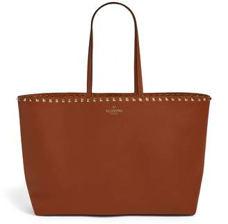 Valentino Garavani Leather Rockstud Tote Bag