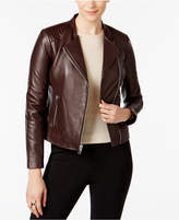 Andrew Marc Selena Leather Moto Jacket