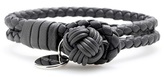 Bottega Veneta Knot Woven Leather Bracelet