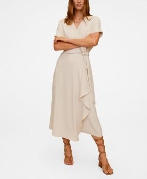 MANGO Flowy Belt Dress