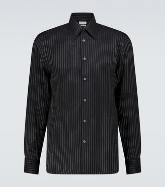 Alexander McQueen Pinstriped long-sleeved shirt
