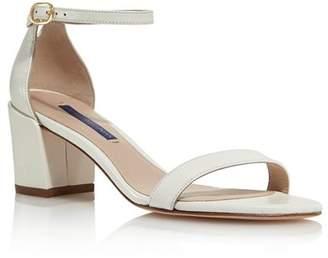 Stuart Weitzman Women's Simple Block Heel Sandals
