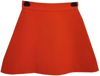 Victoria Beckham Red Silk Skirt for Women
