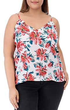 Baobab Collection Felicity Floral Print Ruffled Tank Top