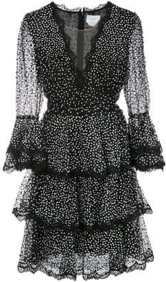 Marchesa sequinned midi dress