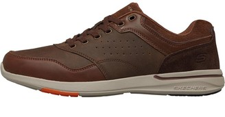 Skechers Mens Elent Velago Shoes Brown
