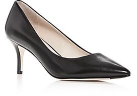 Cole Haan Women's Vesta Leather Pointed Toe Mid-Heel Pumps