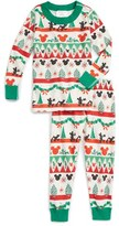 Hanna Andersson Toddler Disney Classic Holiday Print Organic Cotton Fitted Two-Piece Pajamas