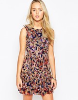 Iska Butterfly Print Pleated Dress