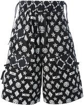 Kokon To Zai monogram shorts - men - Cotton - S