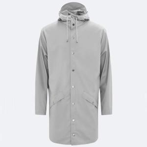 Rains Long Stone Jacket - XXS/XS - Silver