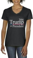 Xekia Donald Trump For President 2016 Republican Tea Party Birthday Gifts Fashion People Couples Gifts Best Friend Gifts Women's V-Neck T-Shirt Tee Clothes XXX-Large