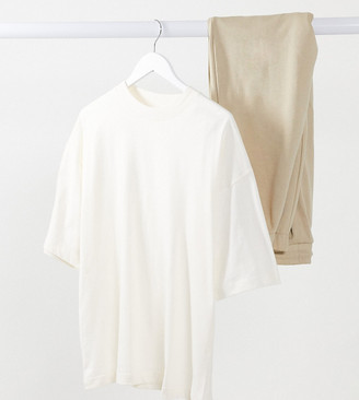 ASOS DESIGN Maternity super oversized t-shirt in bone