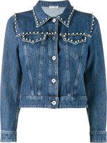 Miu Miu pearl embellished denim jacket