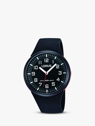 Lorus RRX47DX9 Children's Silicone Strap Watch, Black