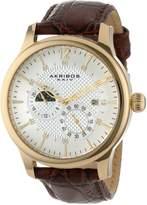 Akribos XXIV Men's AK537YG Ultimate Stainless Steel Automatic Multi-Function Strap Watch