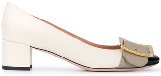 Bally Buckle Pumps With Block Heel