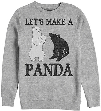 Fifth Sun Men's Pullover Sweaters ATH - Athletic Heather 'Lets Make a Panda' Pullover - Men