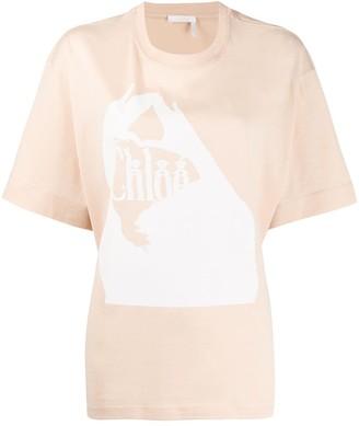 Chloé Femininity logo print T-shirt