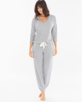 Soma Intimates Cozy Lounge Pullover Set Heather Grey