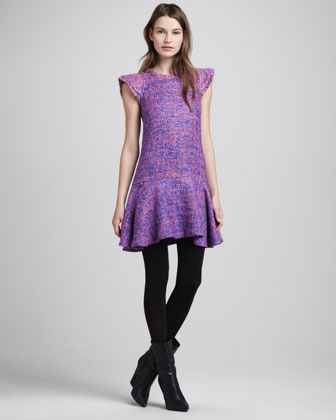 Alexis Adalina Flare-Hem Tweed Dress