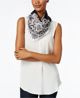 Vince Camuto Lace Crossing Square Scarf