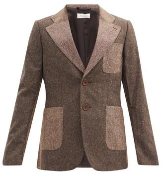 Wales Bonner Judah Flecked-wool Single-breasted Jacket - Brown