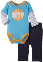 Bon Bebe Basketball MVP Bodysuit Set (Baby)-Multicolor-0-3 Months