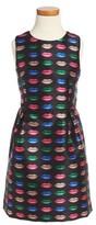 Milly Minis Girl's Kiss Print Sleeveless Dress
